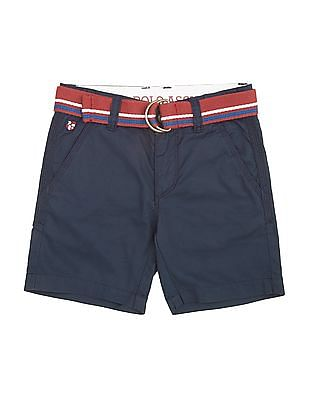 U.S. Polo Assn. Kids Boys Belted Twill Shorts