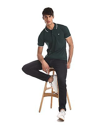 Ruggers Green Solid Pique Polo Shirt