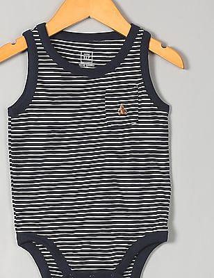 GAP Baby Black Stripe Slub Tank Bodysuit