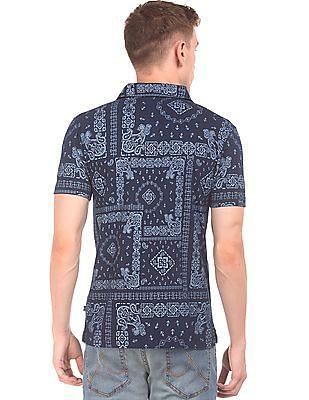 Nautica Printed Slim Fit Polo Shirt