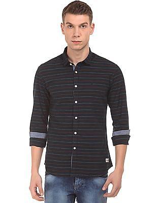 Flying Machine Striped Slim Fit Shirt