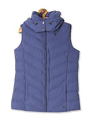 U.S. Polo Assn. Women Detachable Hood Gilet Jacket