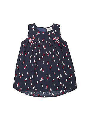 Cherokee Girls Sailboat Print Sleeveless Tunic