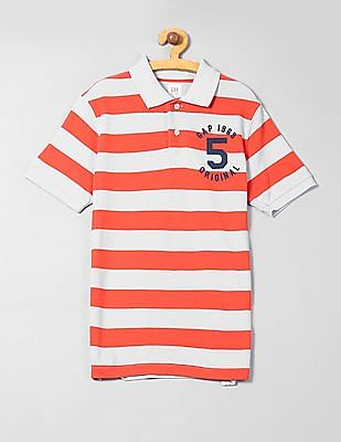 GAP Boys Rugby Stripe Polo Shirt