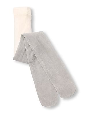 The Children's Place Baby Girl Lurex Micro Fiber Tights