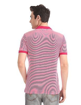 Flying Machine Striped Jersey Polo Shirt