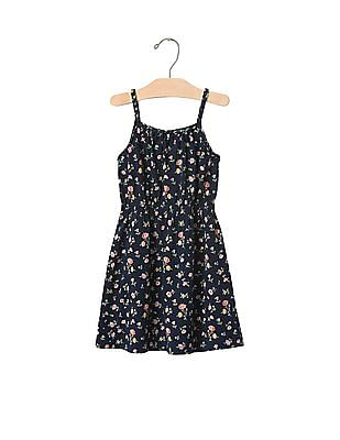 GAP Baby Blue Braided Smock Dress