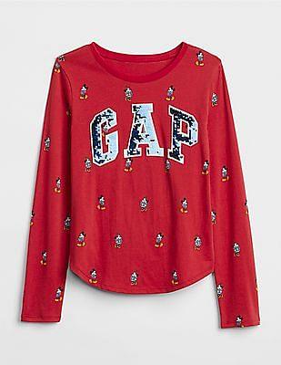 4badc02c Buy Girls 000000039800766100 Red Print Girls T-Shirt online at ...