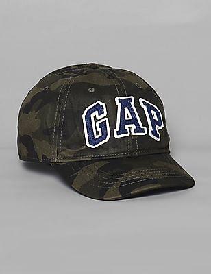 GAP Green Boys Camo Print Baseball Hat