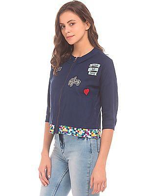 SUGR Contrast Trim Zip Up Jacket