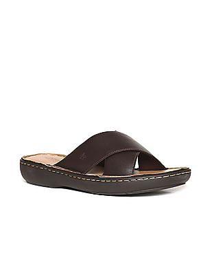 Arrow Crossover Strap Open Toe Sandals