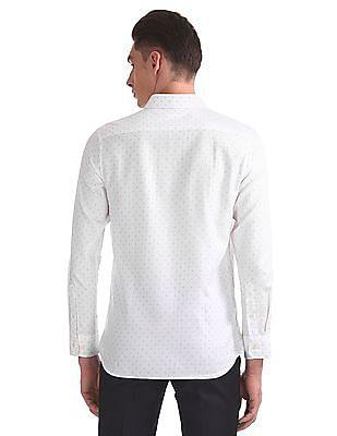 USPA Tailored Regular Fit Printed Shirt