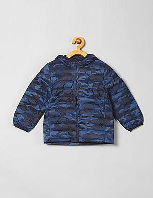GAP Baby Blue Camo Print Padded Jacket