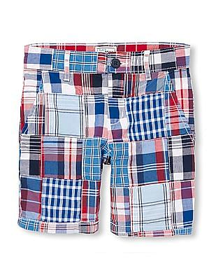 The Children's Place Boys Patchwork Check Shorts