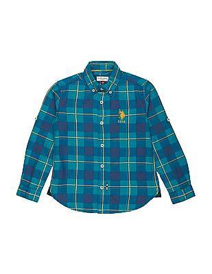 U.S. Polo Assn. Kids Boys Button Down Check Shirt
