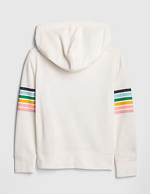 GAP Girls Logo Flippy Sequin Hoodie Sweatshirt
