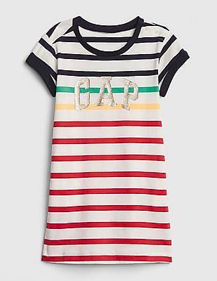 GAP Toddler Girl Stripe Logo T-Shirt Dress