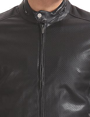 Arrow Sports Regular Fit Perforated Biker Jacket