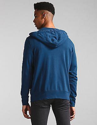 GAP Blue Hooded Zip Up Sweatshirt