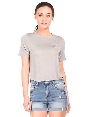 Aeropostale Patch Pocket Cropped Top