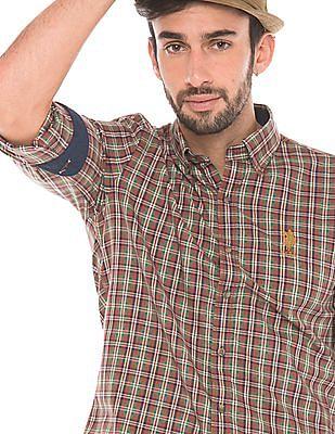 U.S. Polo Assn. Tailored Fit Plaid Shirt