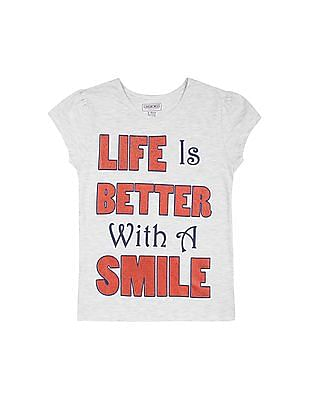 Cherokee Girls Glitter Print T-Shirt