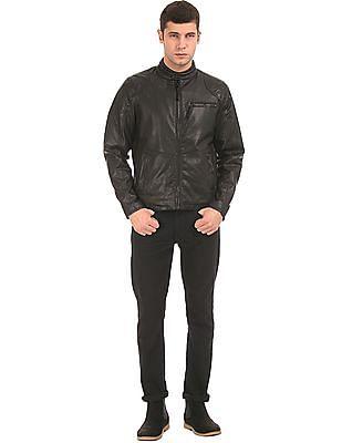 Ed Hardy Perforated Biker Jacket