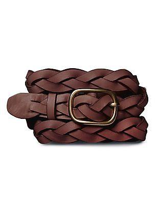 GAP Women Brown Skinny Braided Belt