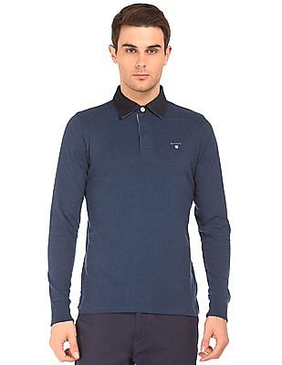 Gant Contrast Collar Heathered Polo Shirt