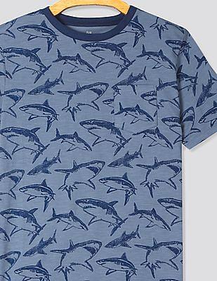 GAP Boys Print Short Sleeve Pocket T-Shirt