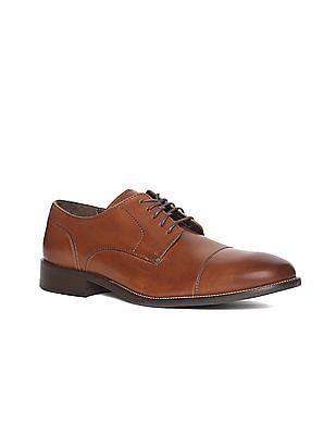 Cole Haan Brown Benton Cap Toe Derby Shoes