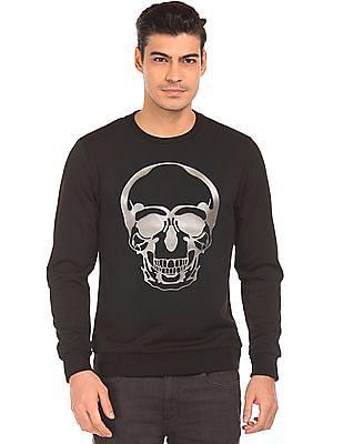 Ed Hardy Skull Print Slim Fit Sweatshirt