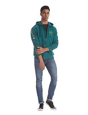 U.S. Polo Assn. Green Raglan Sleeve Hooded Sweatshirt
