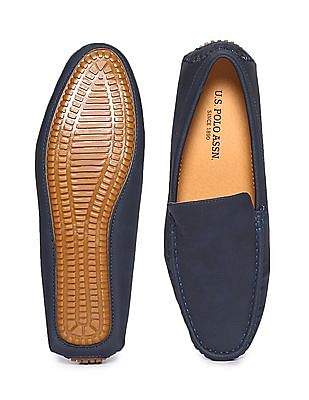 U.S. Polo Assn. Square Toe Contrast Sole Loafers