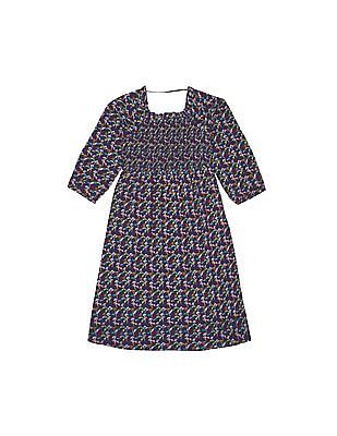 Cherokee Girls Floral Print Fit And Flare Dress