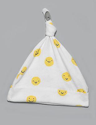 GAP Baby White PersonaliTees Knot Hat