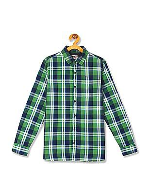 FM Boys Boys Long Sleeve Check Shirt
