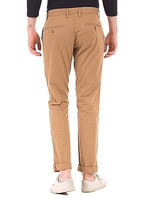 Izod Flat Front Slim Fit Trousers