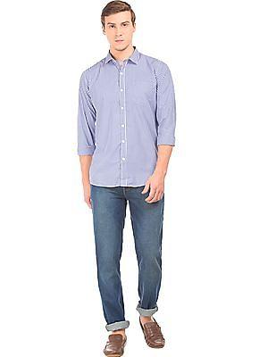 Excalibur Slim Fit Gingham Check Shirt