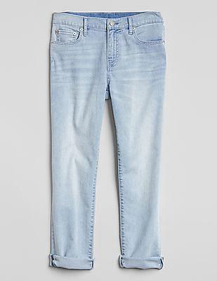 GAP Women Blue Wearlight Mid Rise Best Girlfriend Jeans