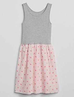 GAP Girls Mix-Fabric Tank Dress