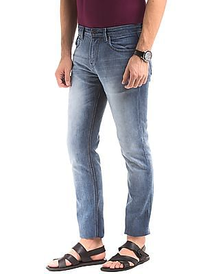 True Blue Tapered Fit Stone Wash Jeans