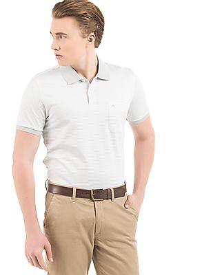 Arrow Striped Regular Fit Polo Shirt