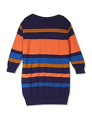 U.S. Polo Assn. Women Striped Flat Knit Top