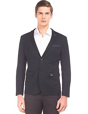 Arrow Patterned Slim Fit Blazer