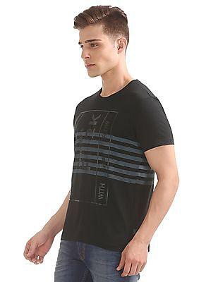 Flying Machine Printed Slim Fit T-Shirt