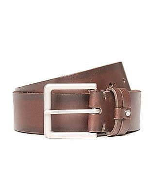 U.S. Polo Assn. Square Buckle Leather Belt