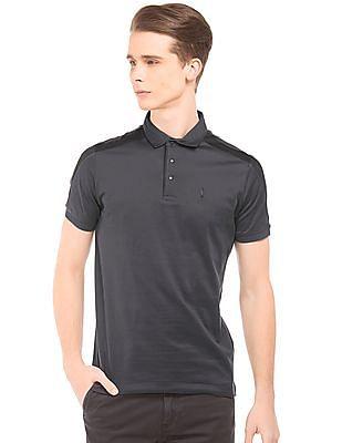 Arrow Newyork Mesh Panel Jersey Polo Shirt