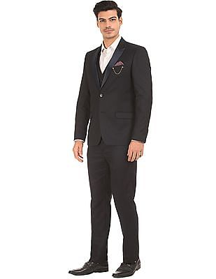 Arrow Patterned Three Piece Suit