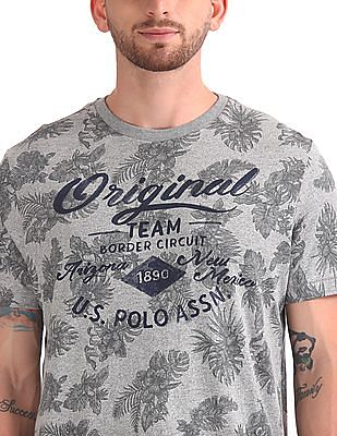 U.S. Polo Assn. Denim Co. Round Neck Printed T-Shirt